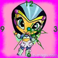 winx clock digit pixie horloge