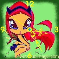 winx clock amore pixie horloge
