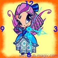 winx clock tune pixie horloge