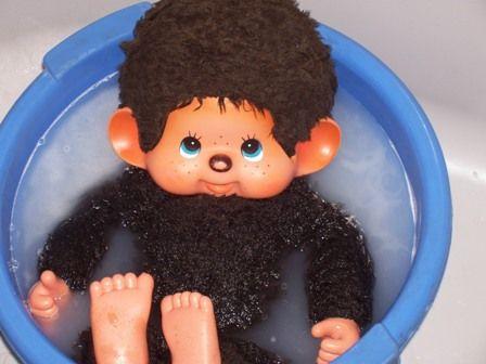 Un Grand Kiki dans son bain....