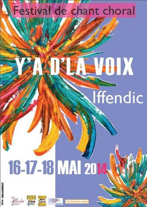 Affiche Y'a d'la voix - festival de chant choral - 2014