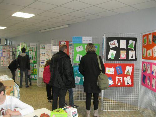 Marché de noël 2014 - exposition des dessins