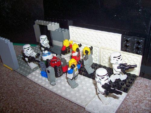 la capture des rebelles par les stormtroopers