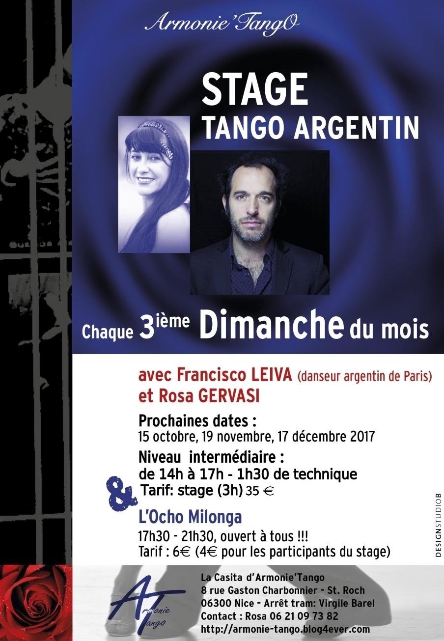Stage Tango Argentin avec Francisco LEIVA et Rosa GERVASI