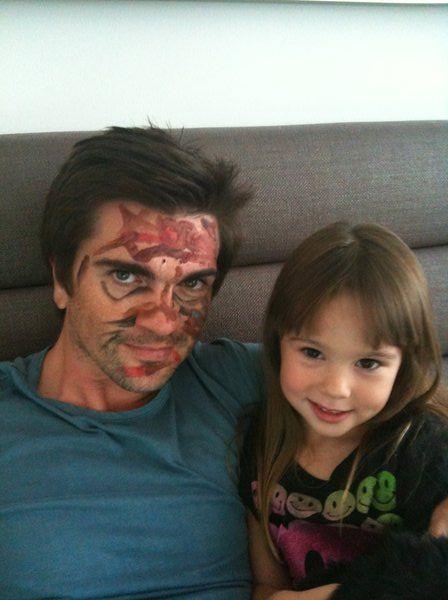 Juanes maquillé par sa fille Paloma !