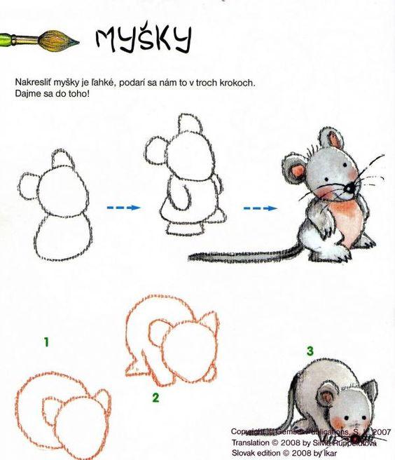 Dessiner une souris en maternelle gf13 humatraffin - Dessiner une souris ...