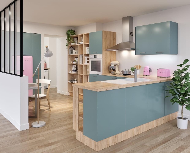 cuisine pastelle l 39 air du temps. Black Bedroom Furniture Sets. Home Design Ideas