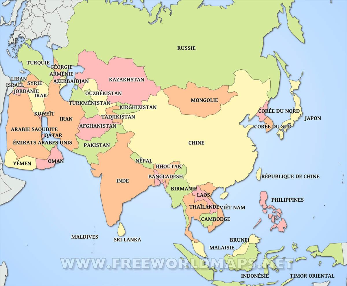 asie-pays-carte