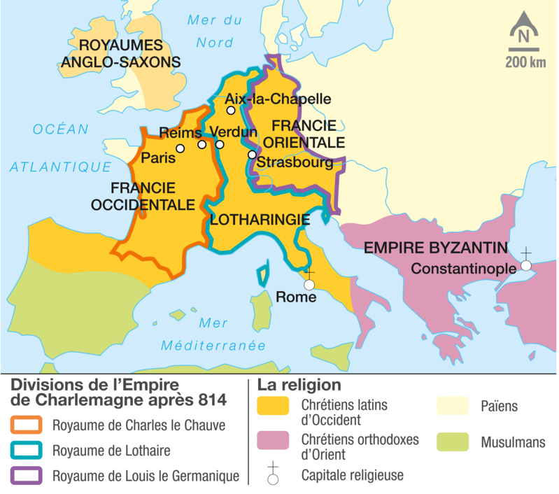 carte Louis le Pieux 817