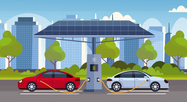 electric-cars-charging-electrical-charge-station-with-solar-panels-renewable-eco-friendly-transport-environment-care-concept-modern-cityscape-background-horizontal_48369-26884
