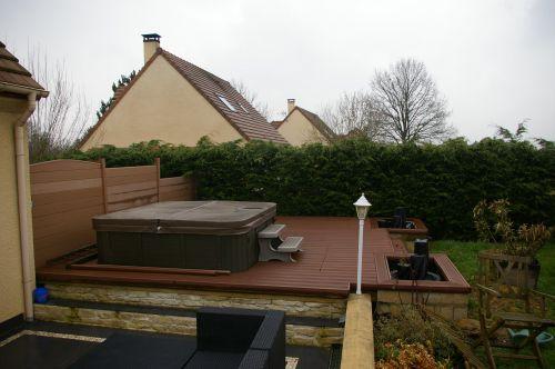 Trauvaux aménagement terrasse du SPA