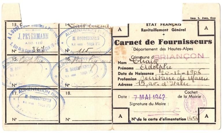 Rationnement – Emissions locales (1939-1949) – (Hautes-Alpes) – Carnet de Fournisseurs-1.jpg