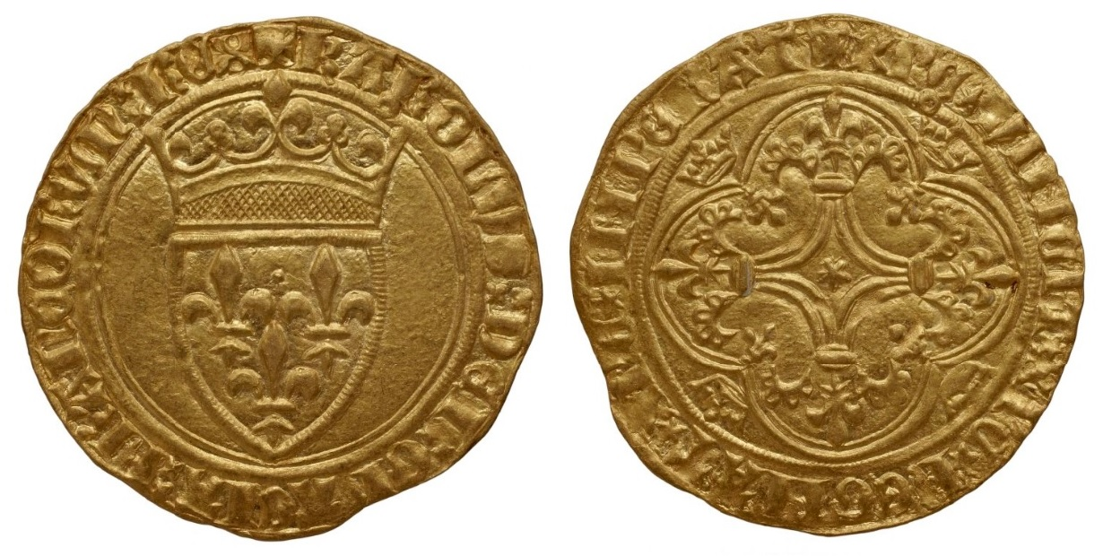 1-Charles VI-écu d'or-Embrun-Bnf.jpg