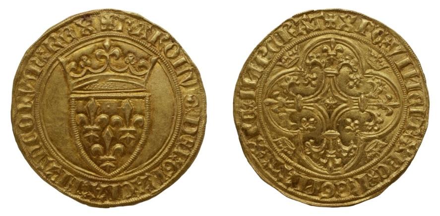 3-Charles VI-écu d'or-Mirabel ou Embrun-Bnf.jpg