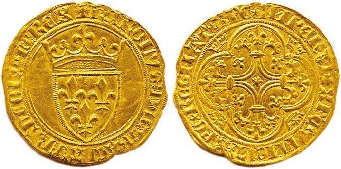 5-Charles VI-écu d'or-Mirabel ou Embrun-vente Palombo auction 5 de juin 2008 n°175 .jpg