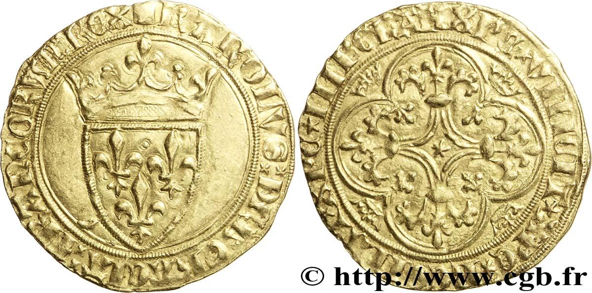7-Charles VI-écu d'or-Mirabel ou Embrun-vente CGB auction 33 n°1059.jpg