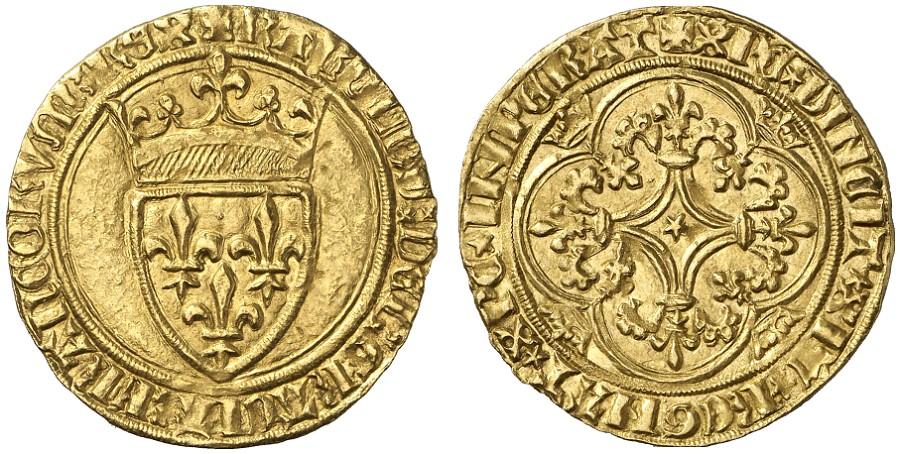 3-Charles VI-écu d'or-Embru-vente Fritz Rudolf Künker GmbH & Co auction 55 de juin 2009 n°3108 et de mars 2013  .jpg