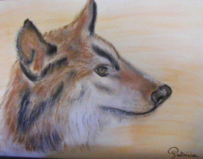 Les Loups Le Loup La Louve Le Louveteau Pastel Sec Loup