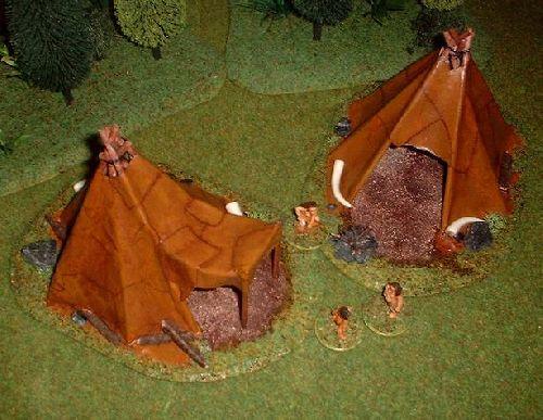 Au campement, on attend le retour des chasseurs