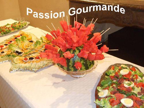 Brochettes de pastèque, réalisé pour mon buffet mariage