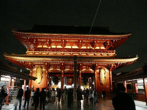 Asakusa le temple de nuit
