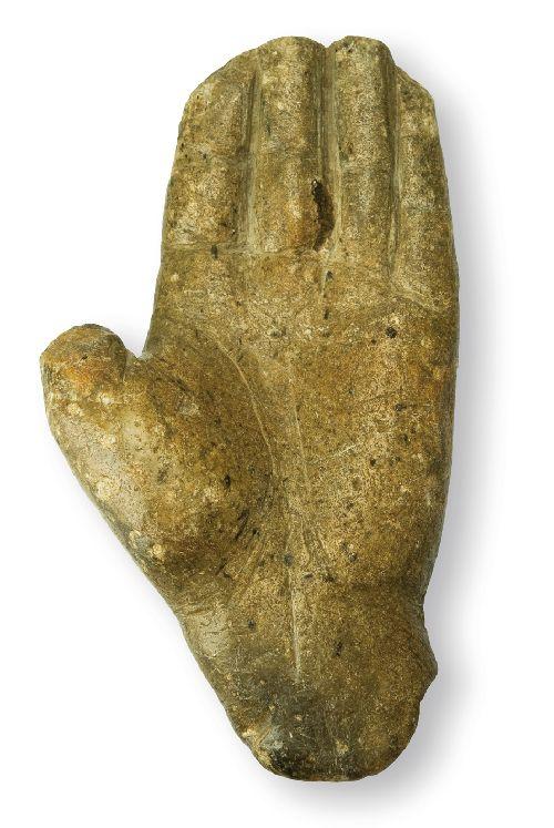 La main de Morenci et ses phalanges amputées (Ph. Laurent Crassous)