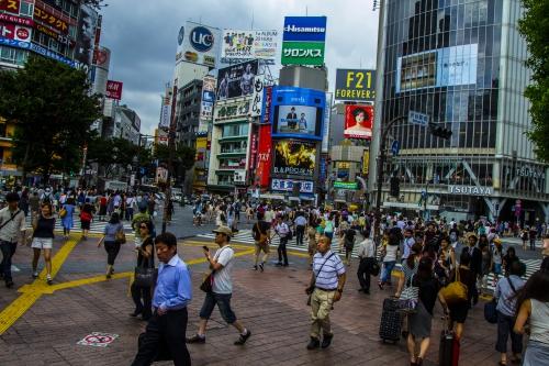 SHIBUYA le paradis du shopping et personne ne se bouscule une autre planète ya pas à dire.JPG