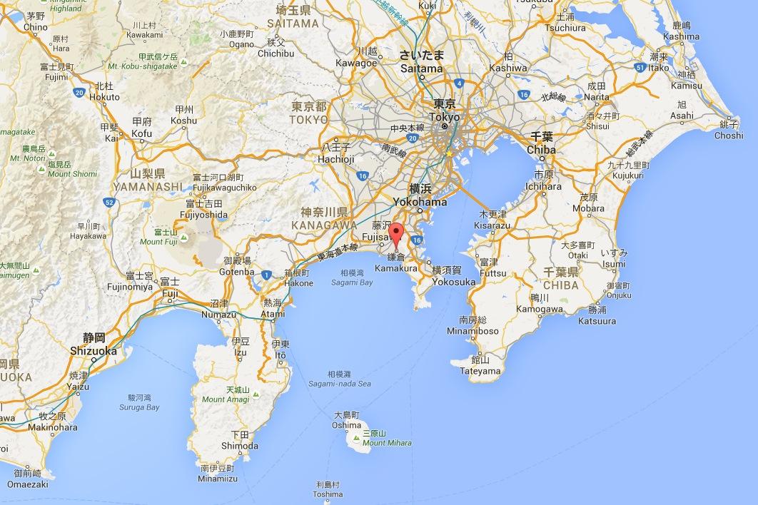 Kamakura  Préfecture de Kanagawa   GoogleMaps.jpg