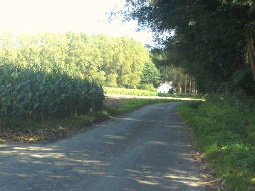 petite chemin dans la campagne de Beloeil