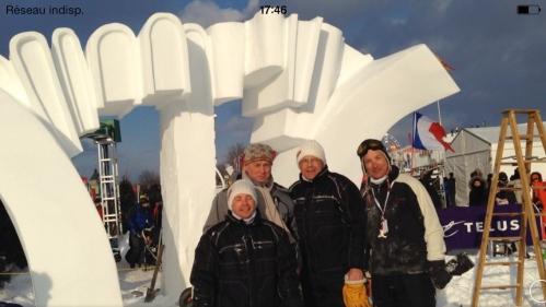Rencontre de Pascal Bonnetain à Québec - international de sculpture sur neige 2014.jpeg