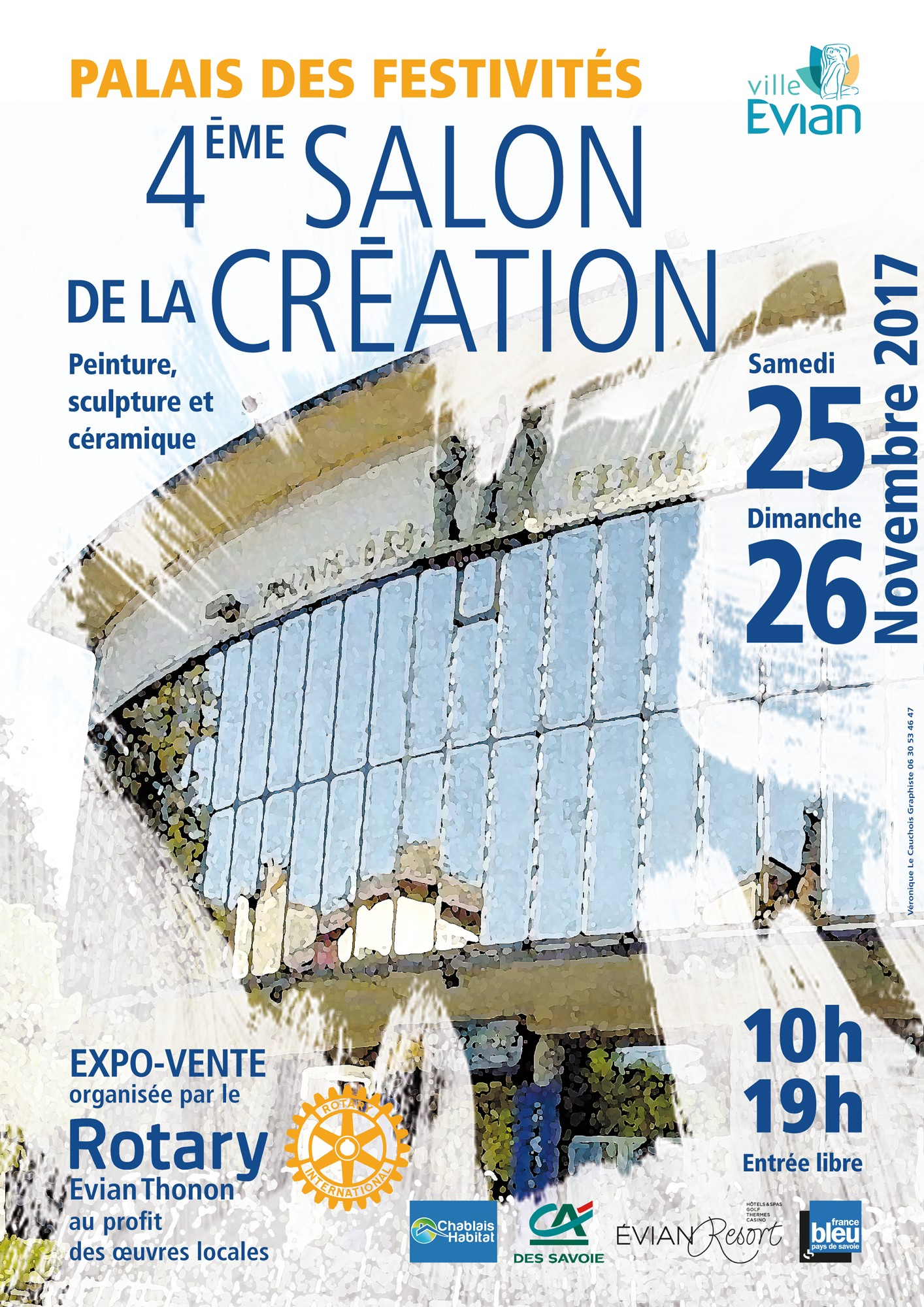 affiche salon de la création Rotary club  EvianThonon  2017.jpg