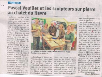 Art  Dauphiné Libéré Valloire Chalet du Havre Août 2020.png