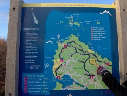 Visite touristique - carte