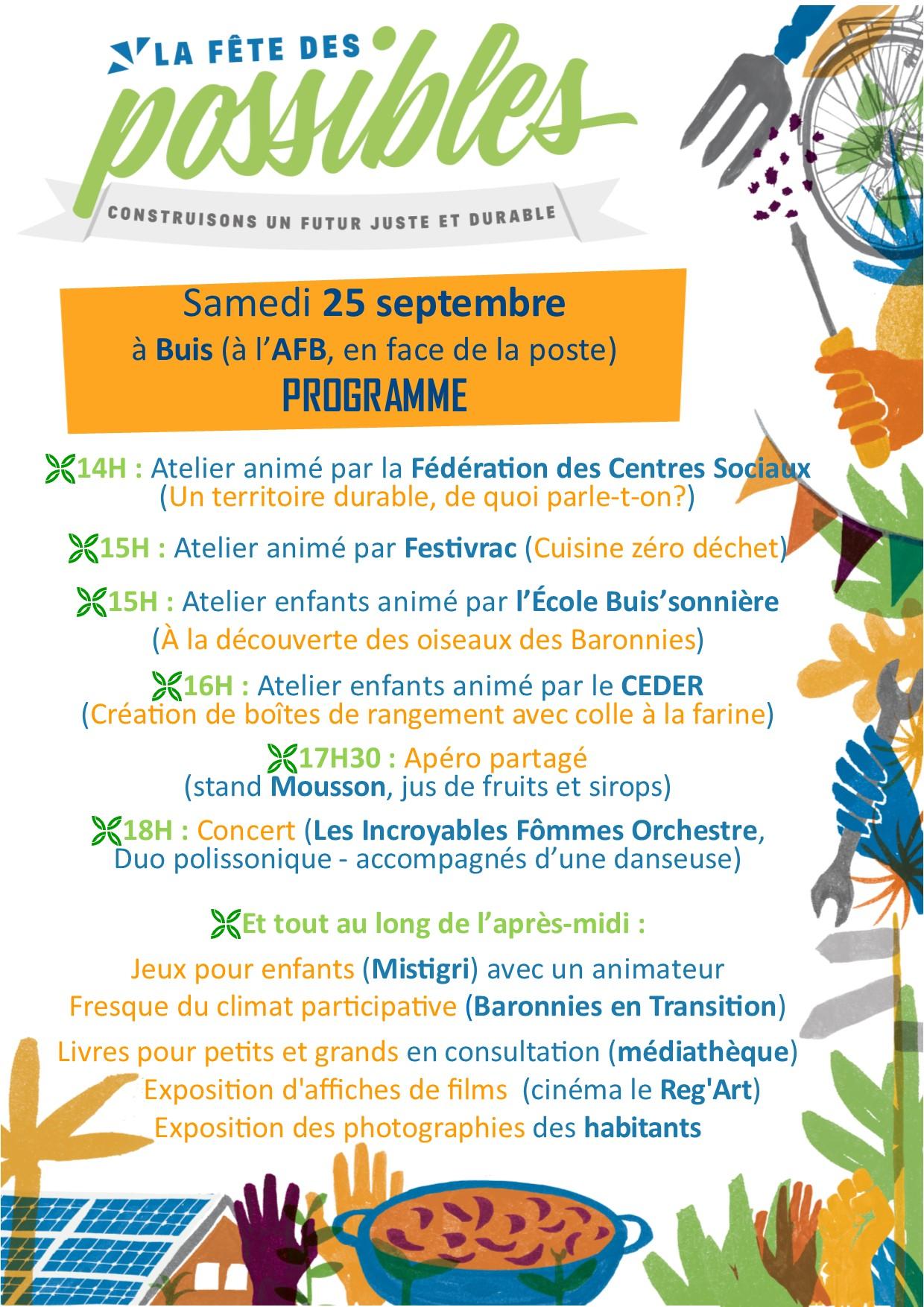Affiche programme FdP