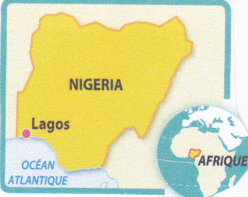 Nigéria. Lagos situation.jpg