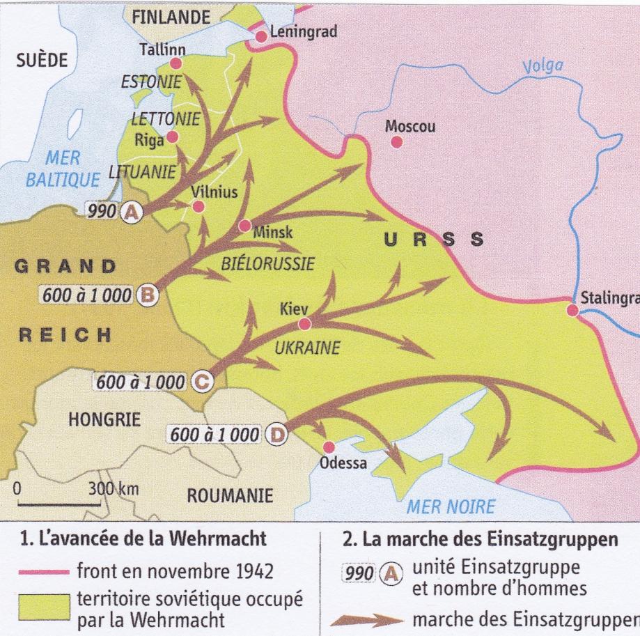 Einsatzgruppen. Opérations (carte).jpg