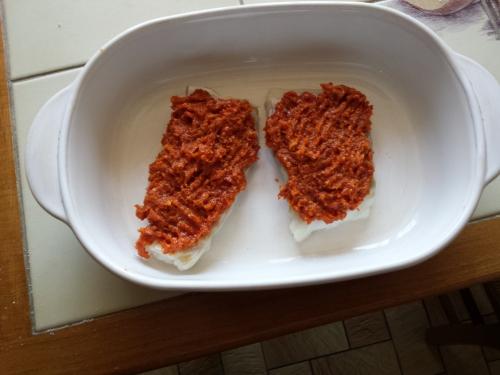 Dos de cabillaud en crumble de chorizo et parmesan 2.jpg