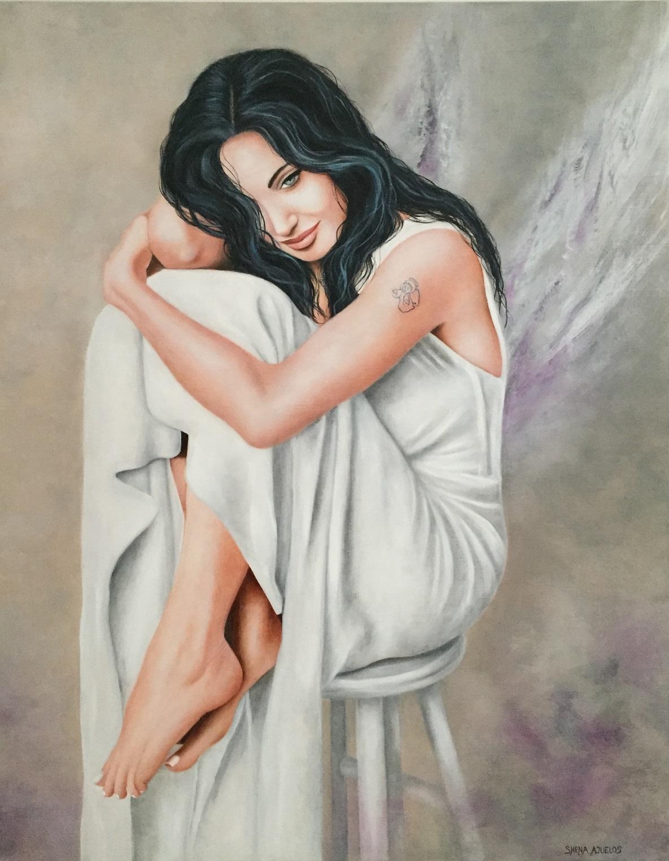 Un Ange passe... ( 92 x 73 )