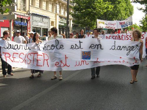 Manif dans Marseille pour Erwan Redon