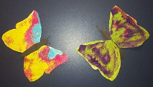 papillon peint