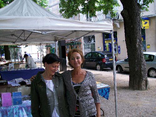 Mon amie Vero avec la sympathique Martine Foresti