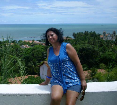 Sandra à Olinda, Etat de Pernambuco, nord-est du Brésil - copyright Sandra