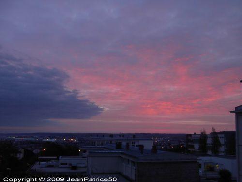 Lever de soleil  le 19 octobre 2009 à Cherbourg-Octeville  (Cotentin - Normandie - France)