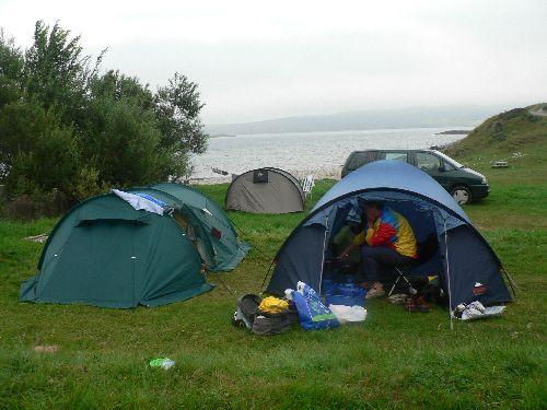 Aire de camping sauvage à la pointe Nord du pays