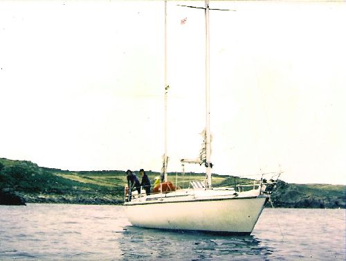 Aldéric, mouillage au Scilly