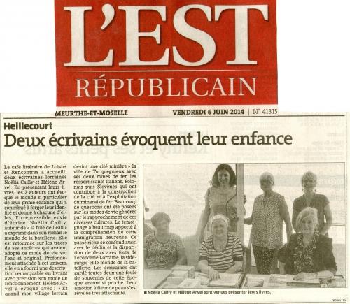 Article de l'est Républicain du 6 juin 2014 Avec entête Est Républicain.jpg