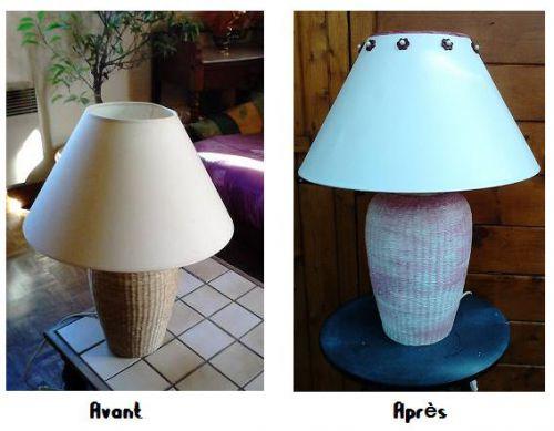 Relooking d'une lampe