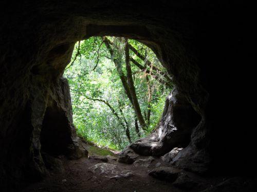 Vue de l'intérieur d'un cluseau