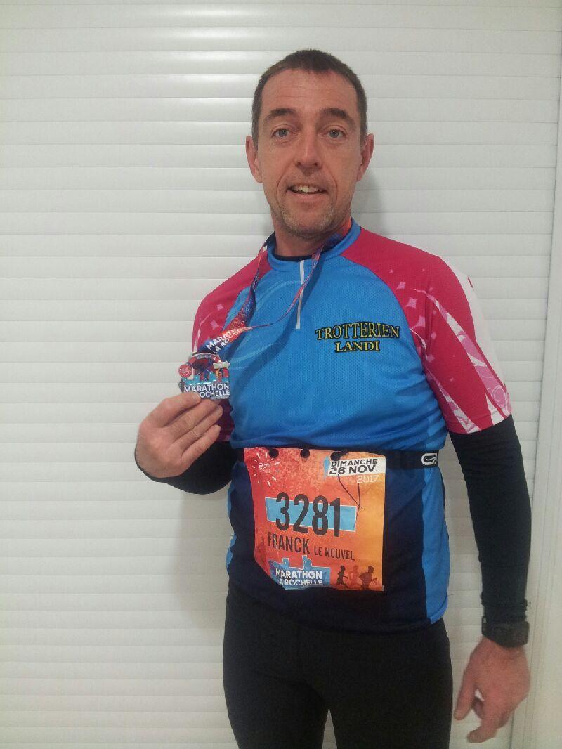 Franck Le Nouvel au marathon de la Rochelle