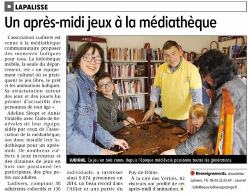 Article LUDIVERS LAPALISSE 2015.jpg